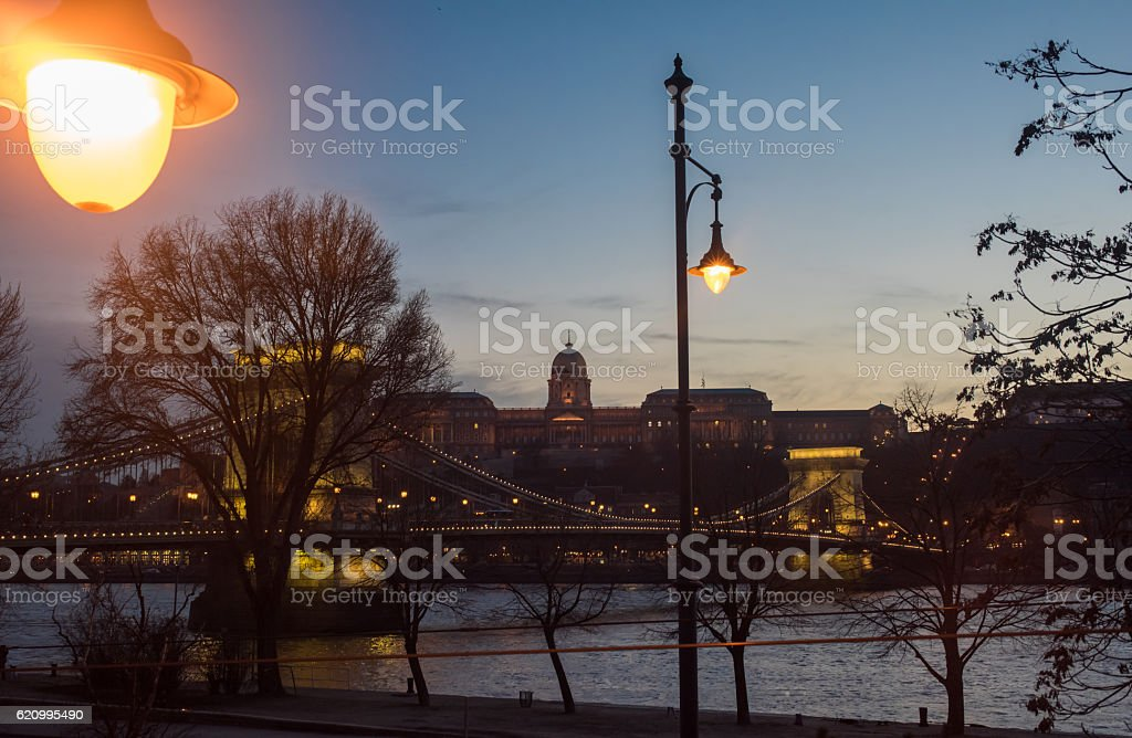 Landmarks of Budapest stock photo