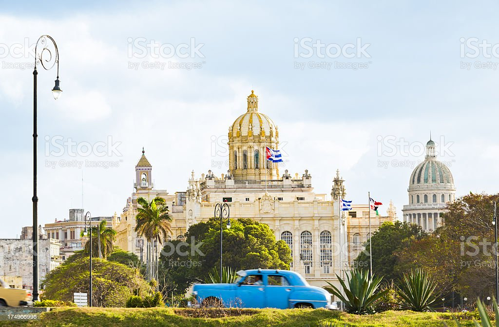 Landmarks of Havana, Cuba stock photo