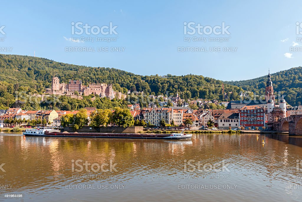 Landmarks of Heidelberg stock photo
