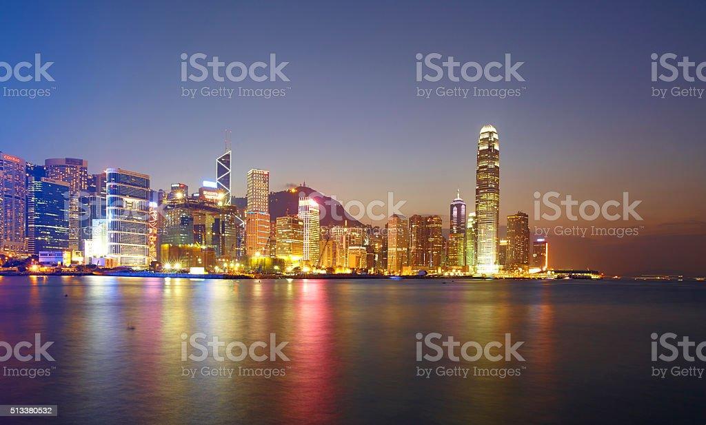 Landmarks Of Hong Kong Harbour stock photo