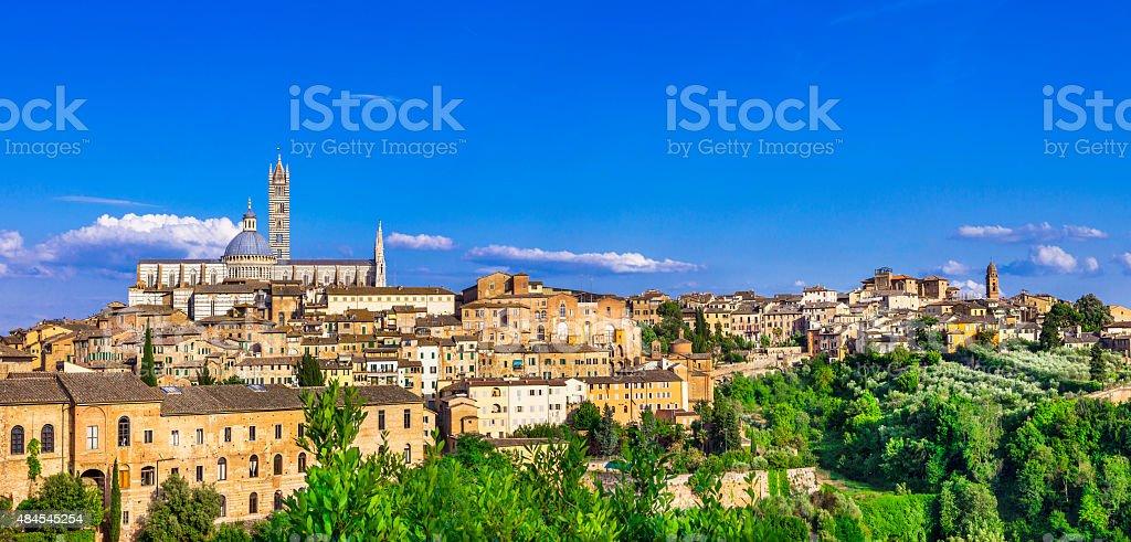 Landmarks of Italy - Siena, Tuscany stock photo