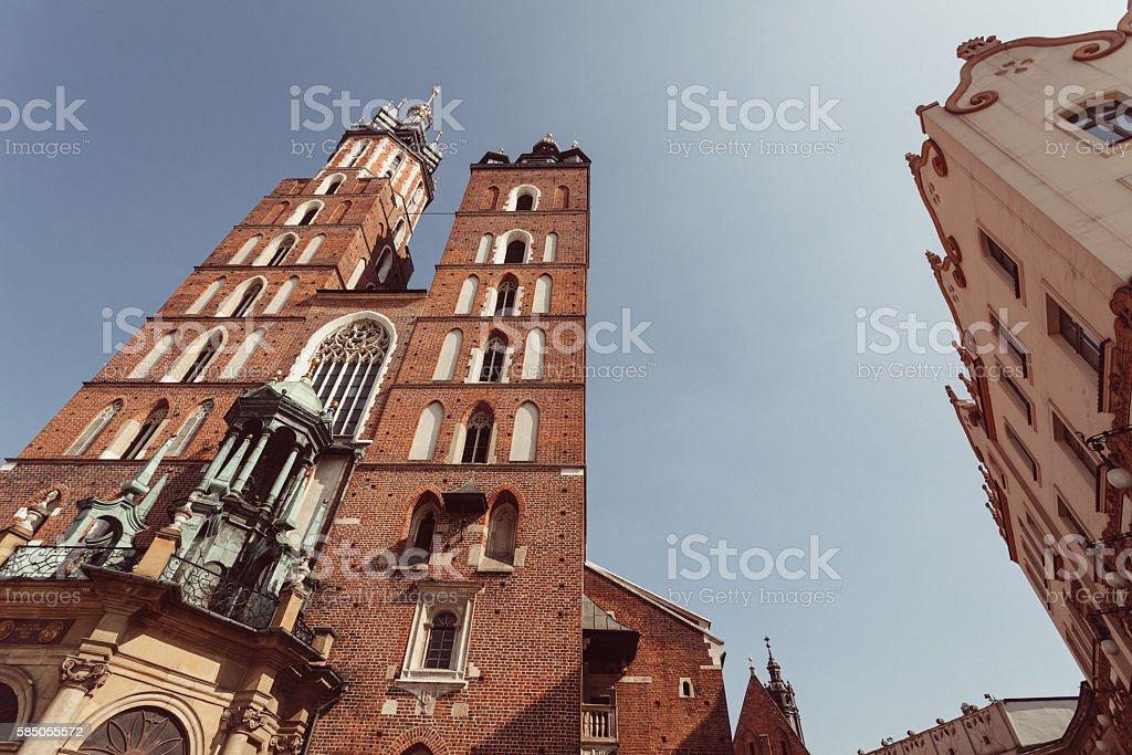 Landmarks of Krakow stock photo