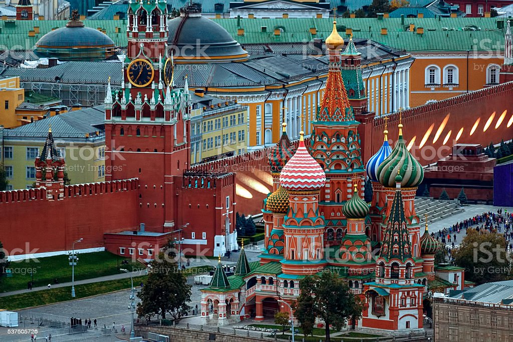Landmarks of Moscow Kremlin stock photo