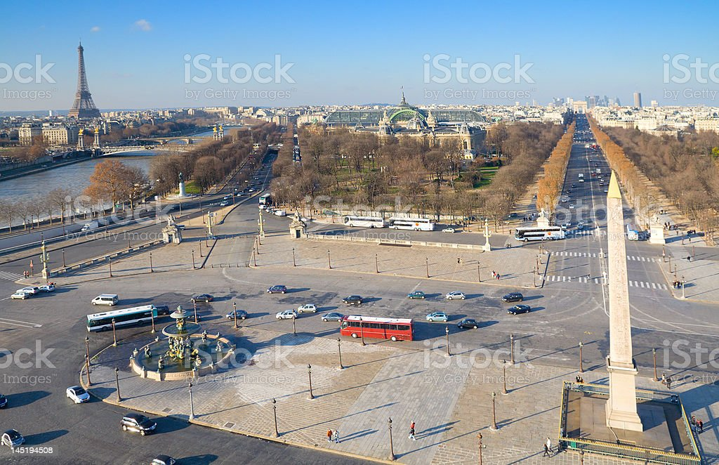 Landmarks of Paris royalty-free stock photo