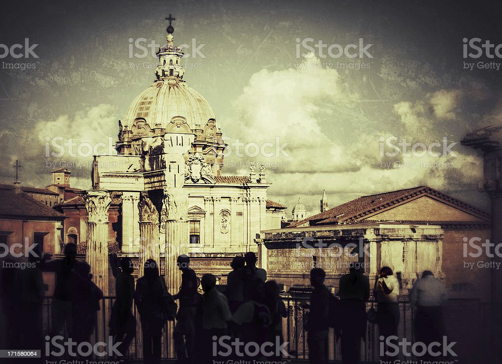 Landmarks of Rome royalty-free stock photo