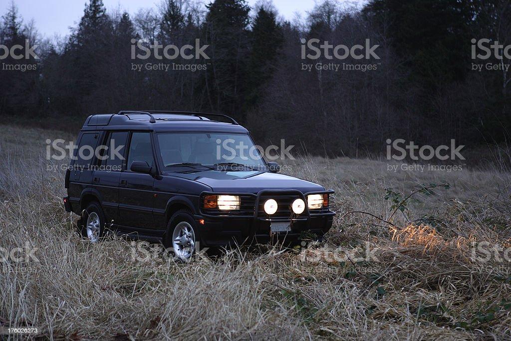 Landrover_field stock photo