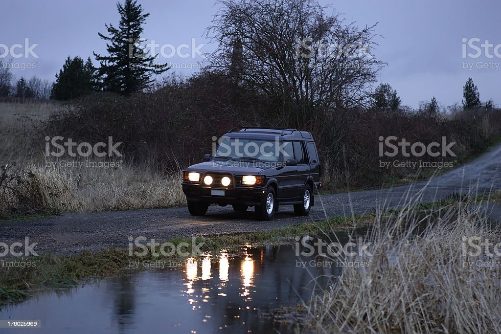 Landrover_water stock photo