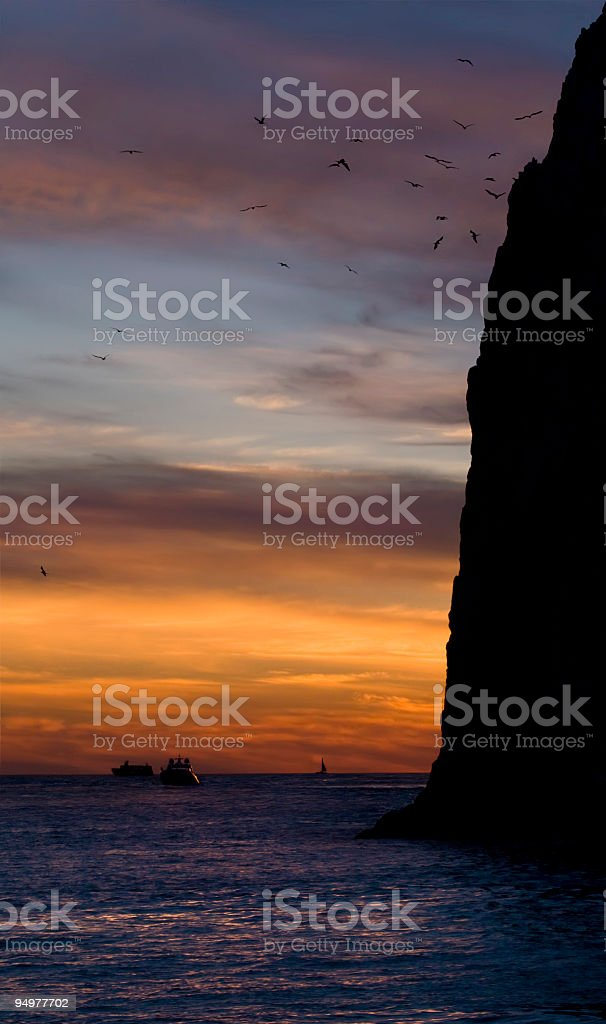 Land's End at Sunset stock photo