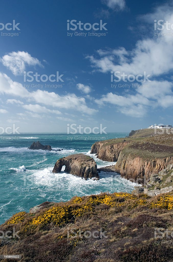 Land's end, Cornwall. England stock photo