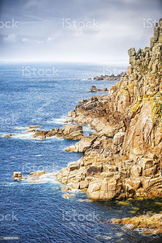 Land's End, Cornwall, England stock photo