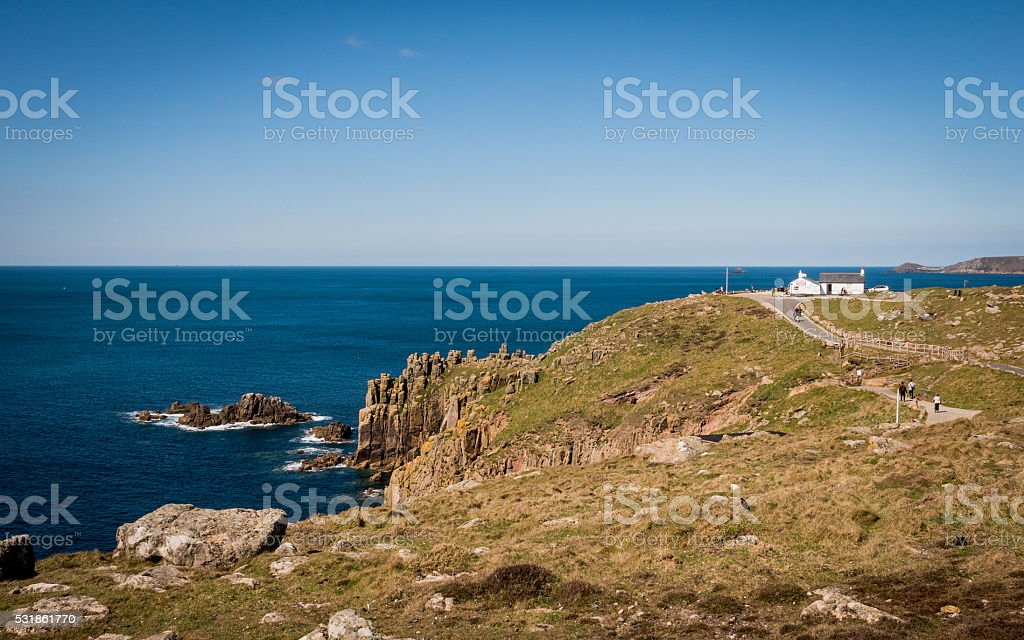 Lands End, Cornwall, England stock photo