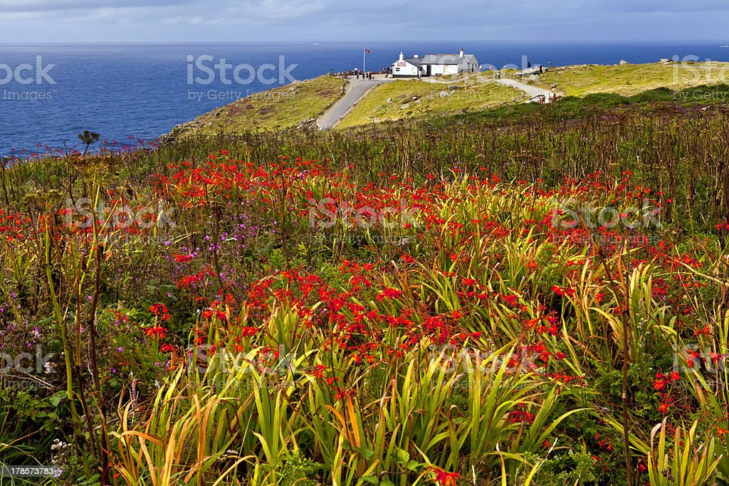 Land's End in Cornwall stock photo