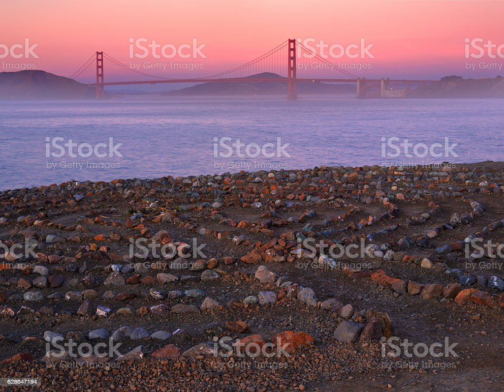 Land's End Maze in San Francisco stock photo
