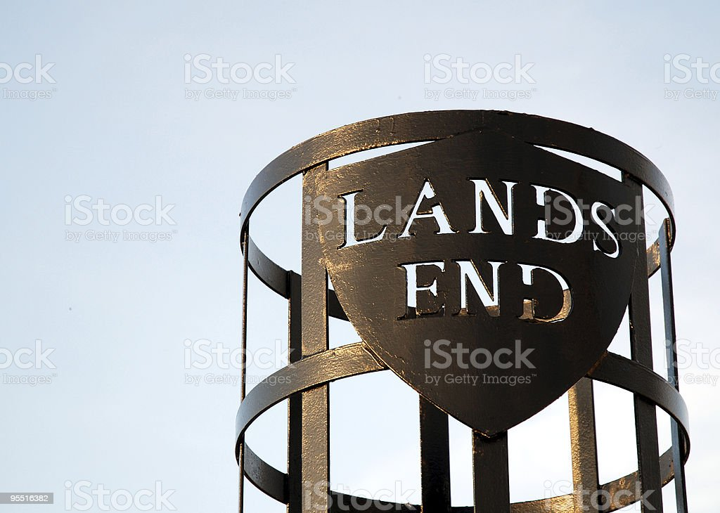 Lands End Sign Cornwall stock photo