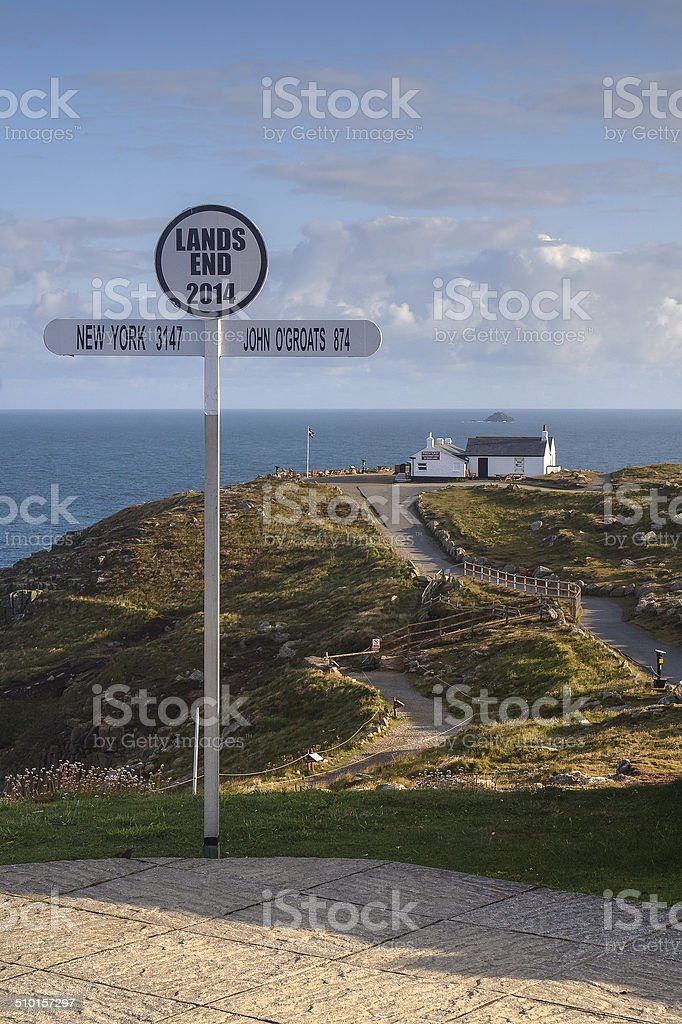 Lands End Sign stock photo