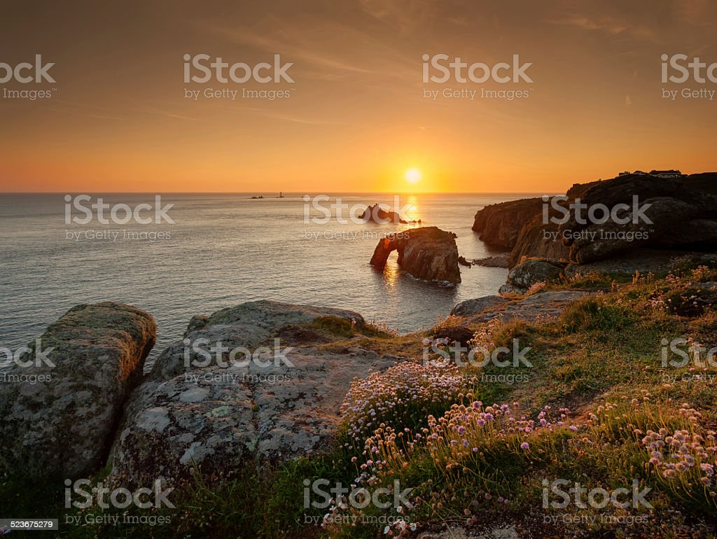 Lands End sunset stock photo