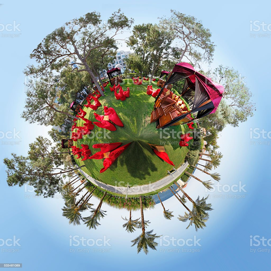 Landscape 360 Degree stock photo