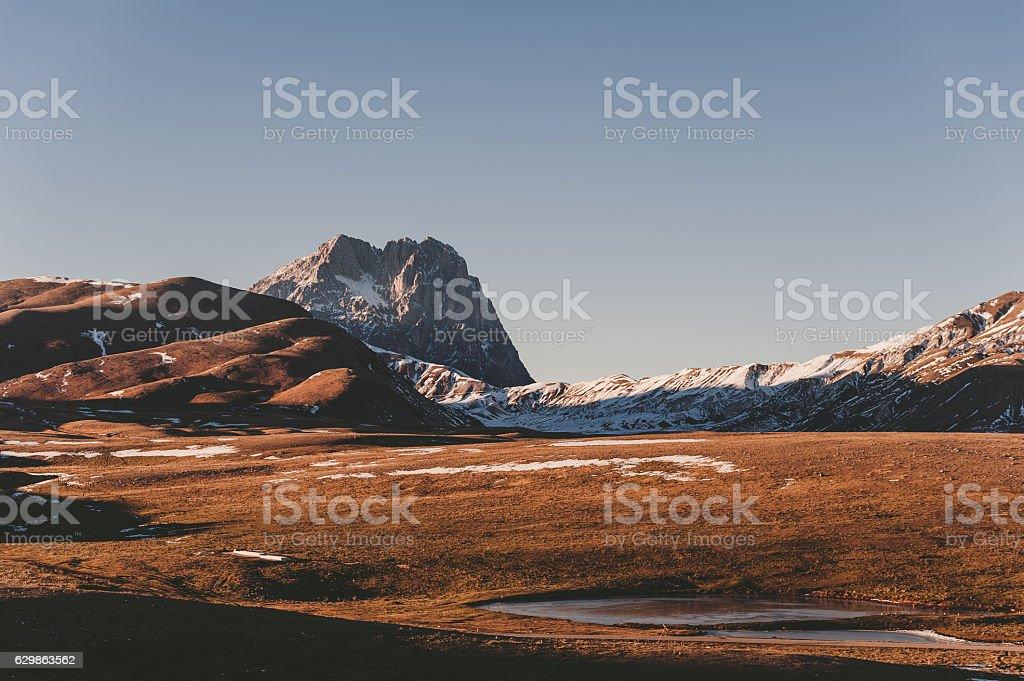 Landscape Abruzzo stock photo