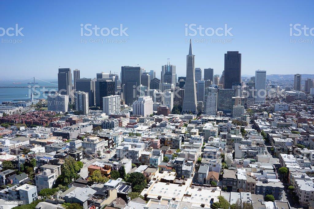 Landschaft Luftbild von San Francisco Stadt Lizenzfreies stock-foto
