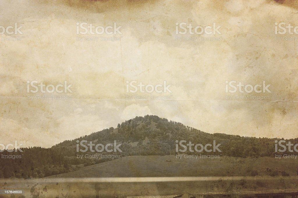 Landscape. Aged photograph. royalty-free stock photo