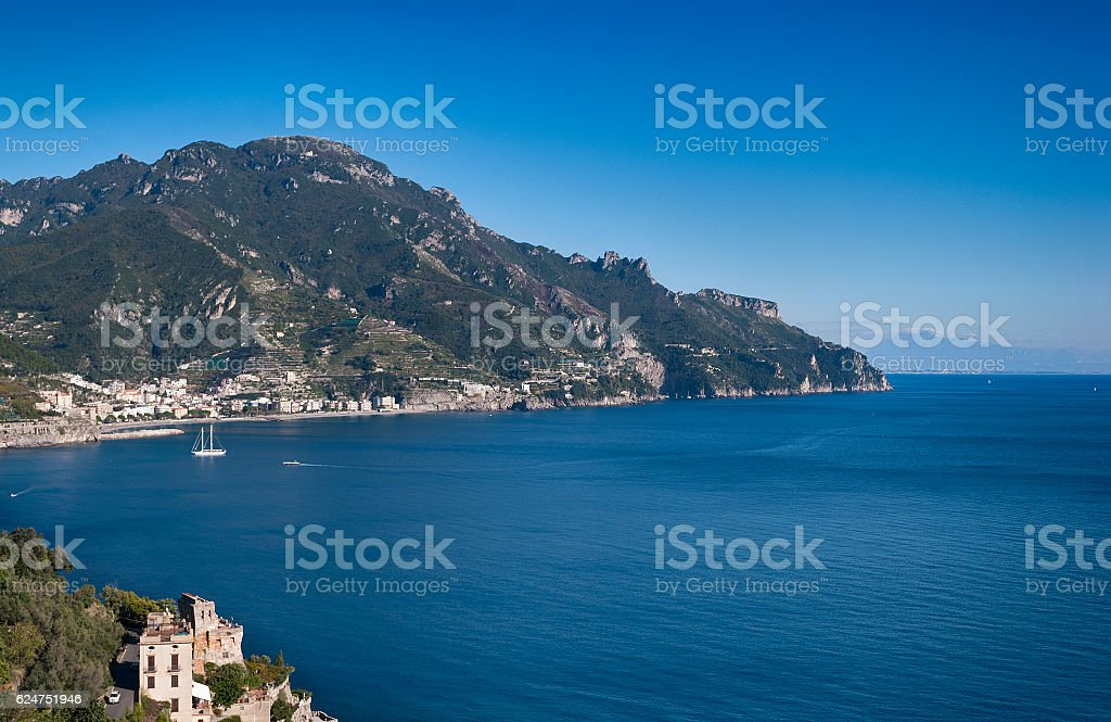 Landscape Amalfi Coast stock photo