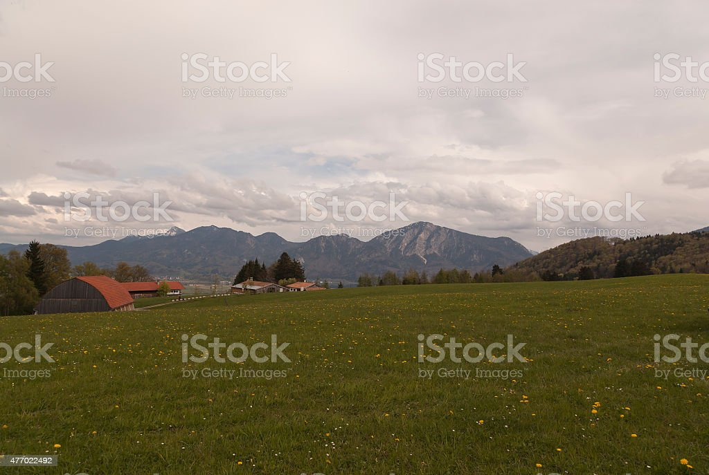 Landscape and rooftops royalty-free stock photo