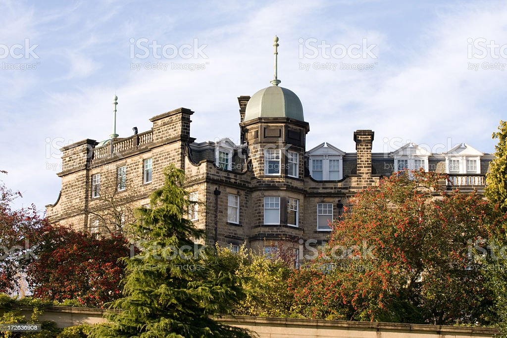 Landscape and surrounding grounds of Harrogate, Yorkshire royalty-free stock photo
