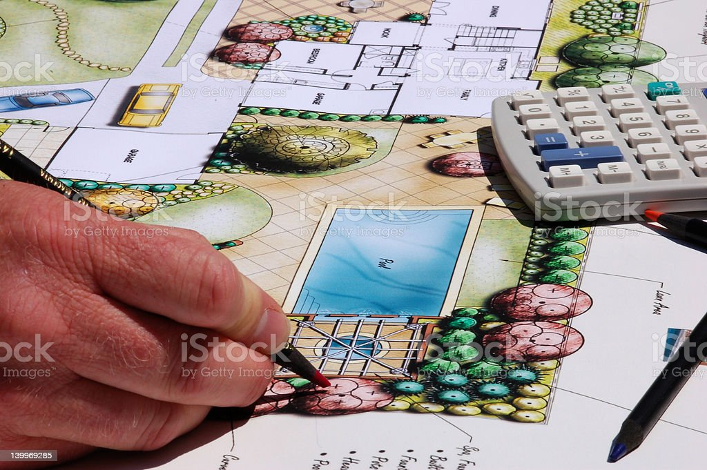 Landscape Architect stock photo