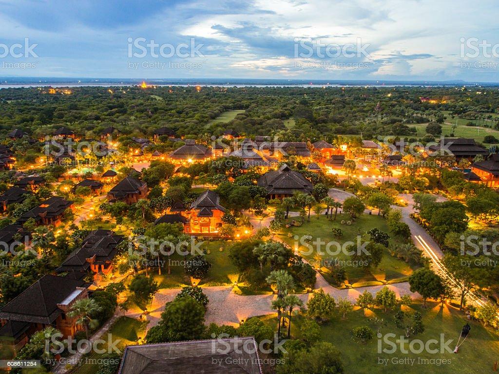 Landscape around Bagan, Myanmar stock photo