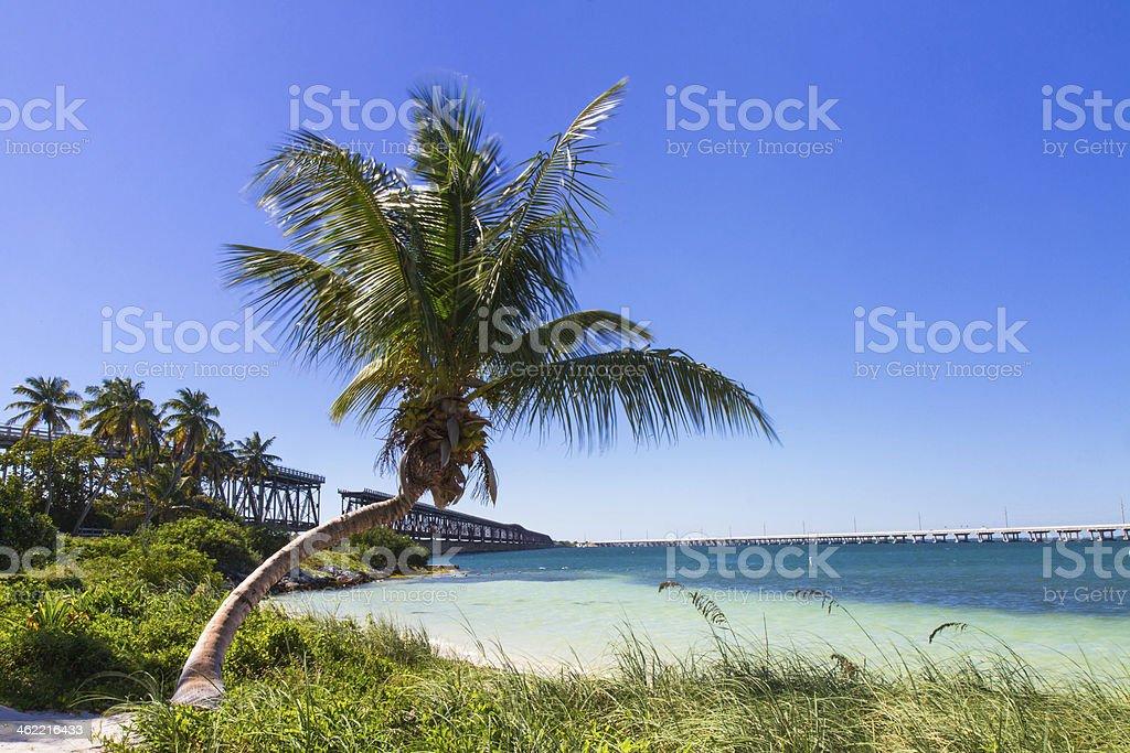 Landscape at Bahia Honda Beach stock photo