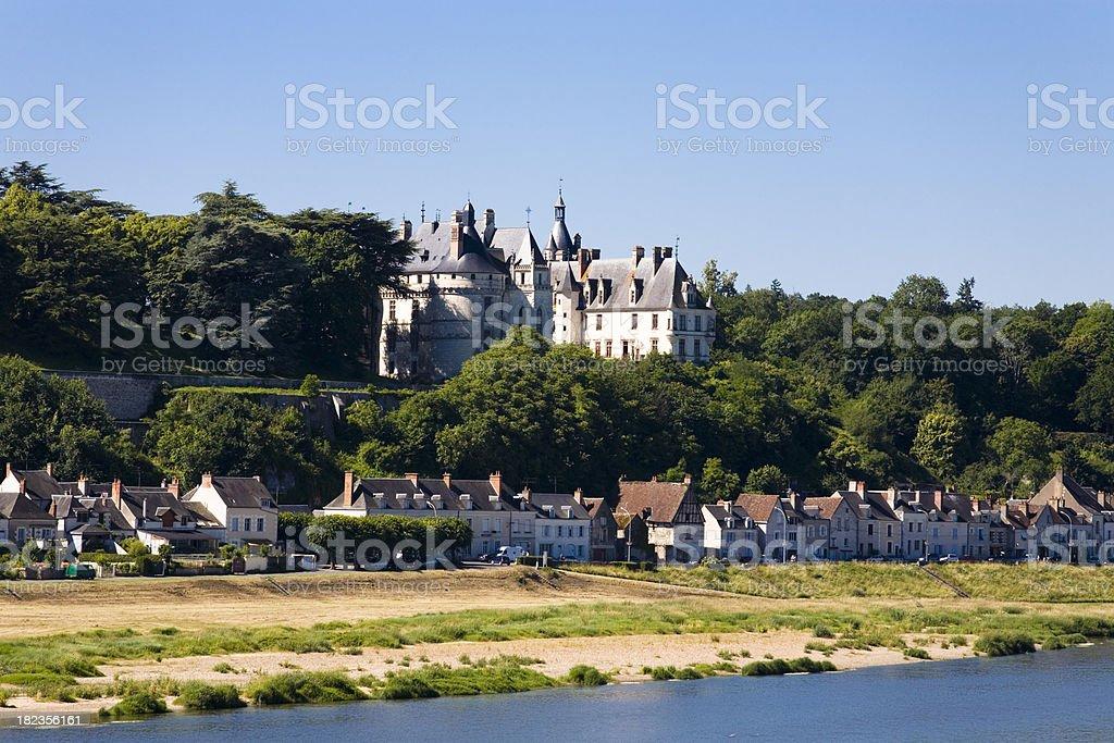 Landscape at Chaumont-sur-Loire stock photo