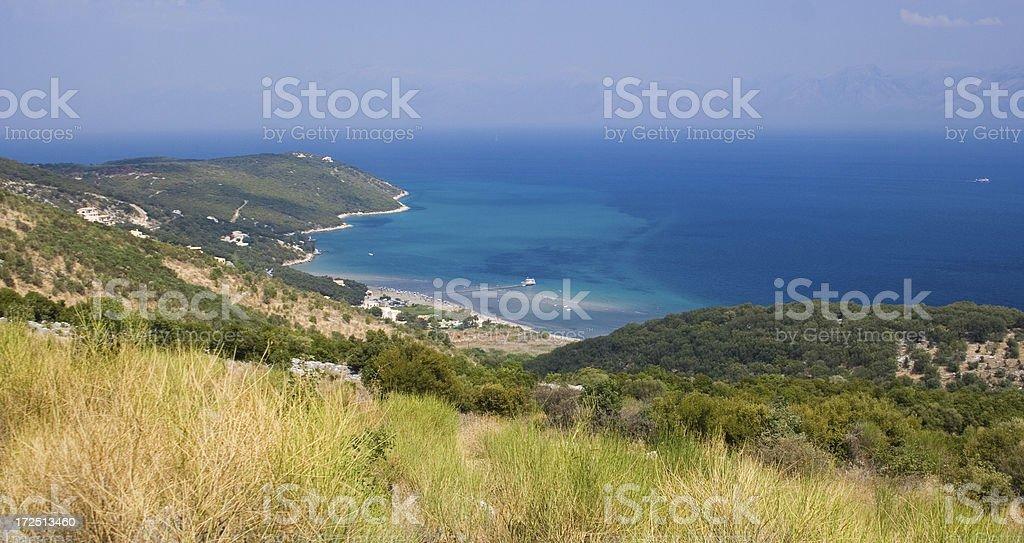 Landscape at Corfu royalty-free stock photo
