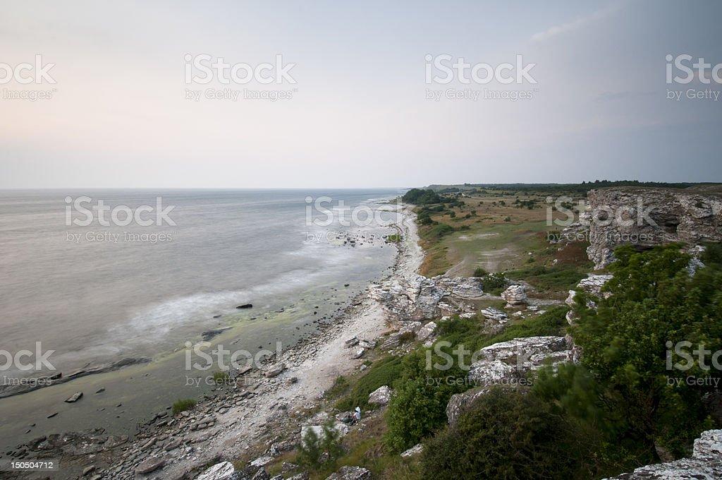 Landscape at Gotland royalty-free stock photo