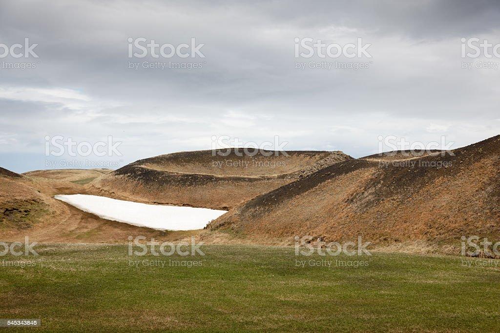Landscape at Myvatn, Iceland stock photo