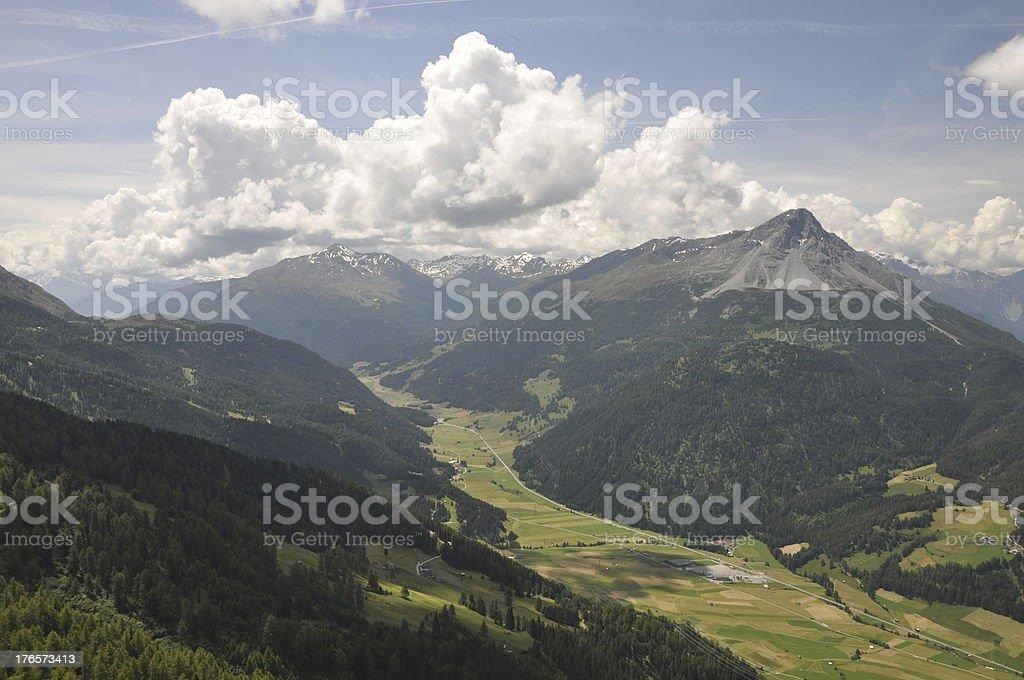 Landscape at Nauders, Austria stock photo