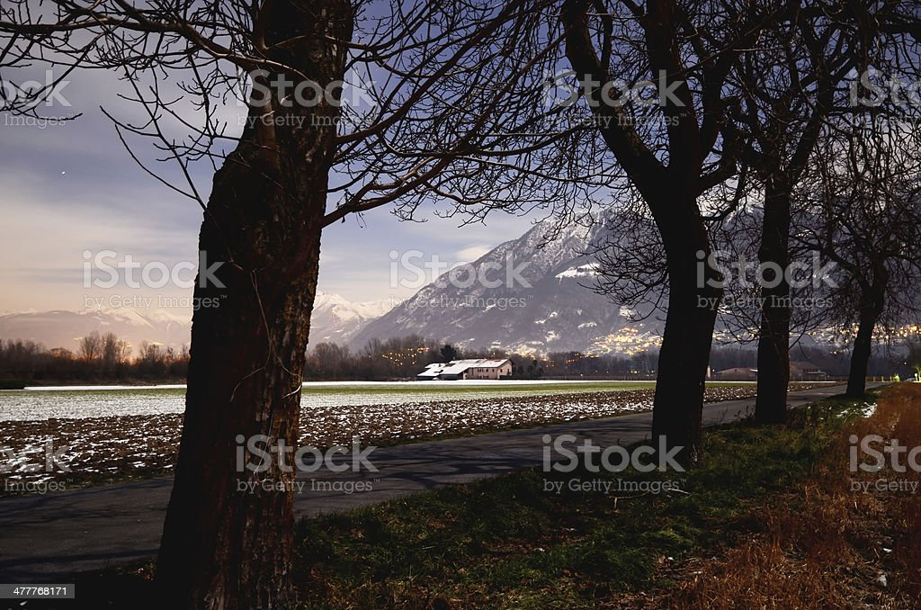 Landscape at night royalty-free stock photo
