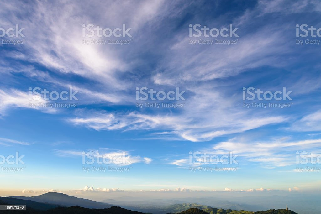 landscape at phu tubberg stock photo