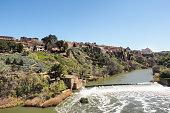 Landscape at river Tajo, Toledo, Spain