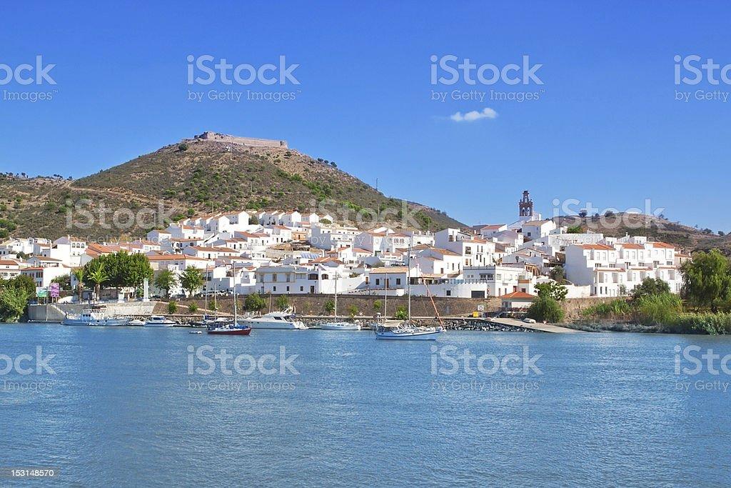 Landscape at Sanlucar de Guadiana, Alcotim. royalty-free stock photo