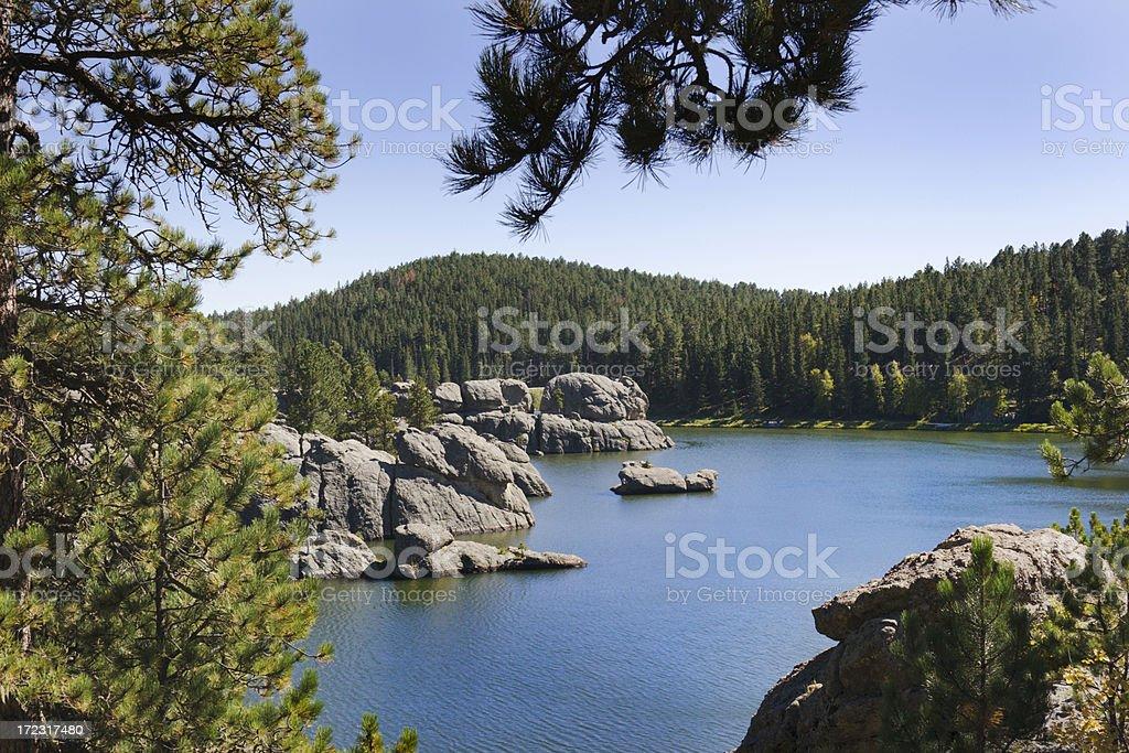 Landscape at Sylvan Lake stock photo