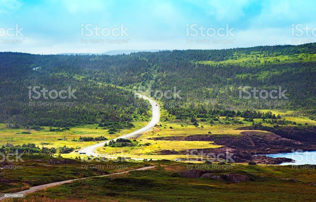 Landscape at the Avalon Peninsula ; Newfoundland, Canada stock photo