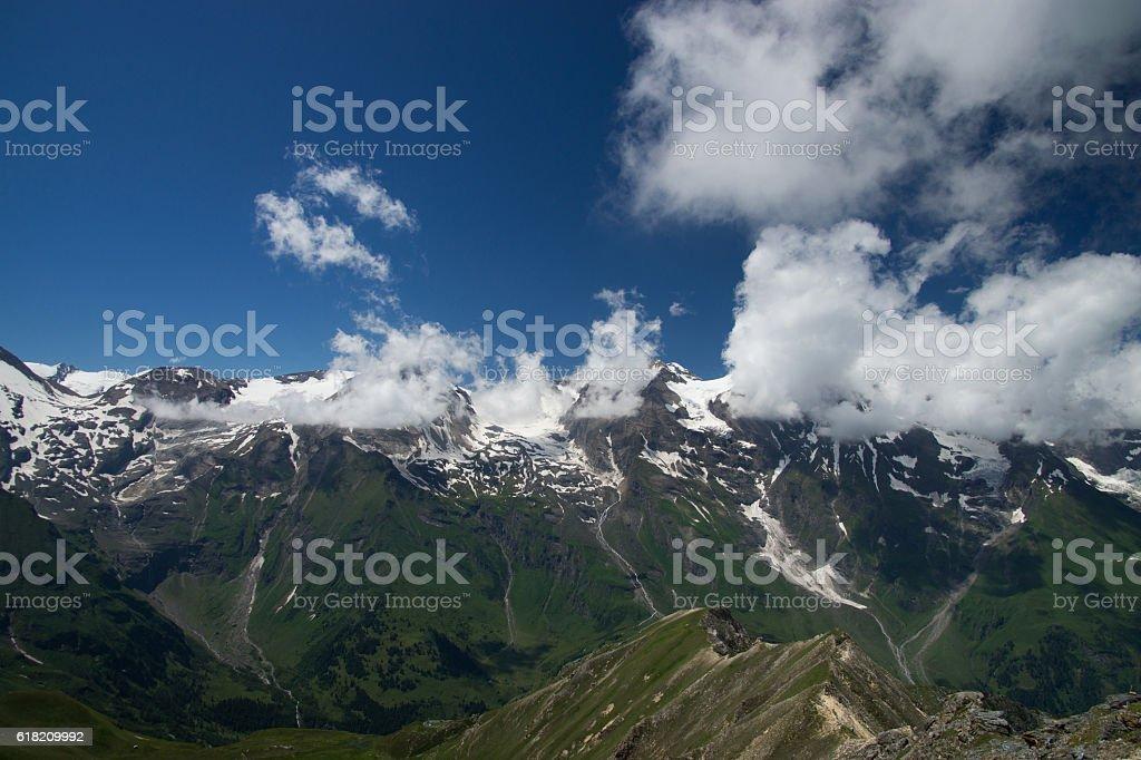 Landscape at the Grossglockner High Alpine Road, Austria stock photo