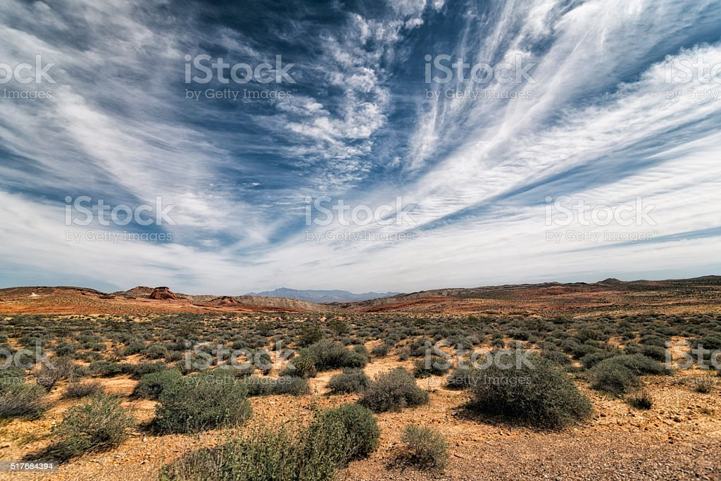 Landscape at Valley of the Fire State Park, California stock photo