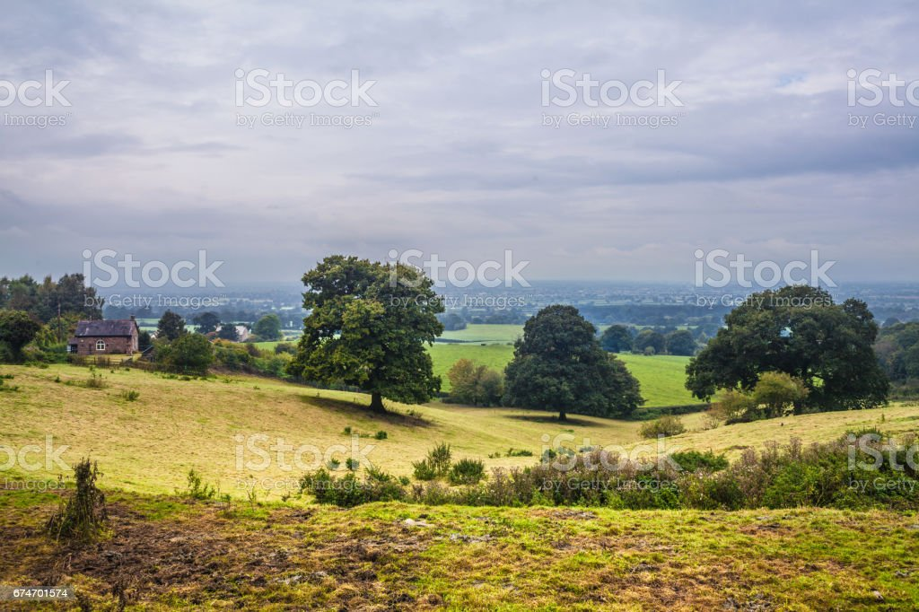 Landscape background in Derbyshire in England, UK stock photo