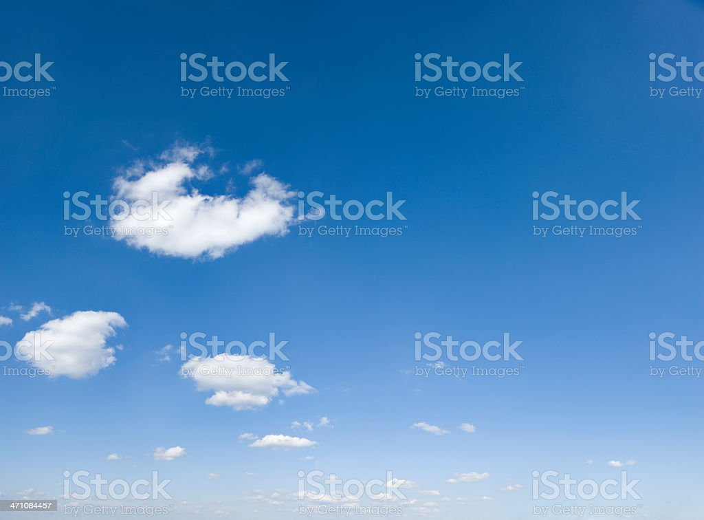 Landscape background of blue sky and white clouds stock photo