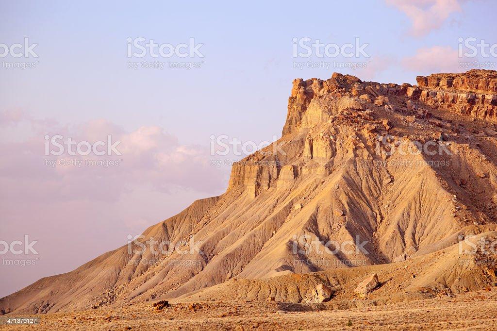 landscape badlands sunrise stock photo
