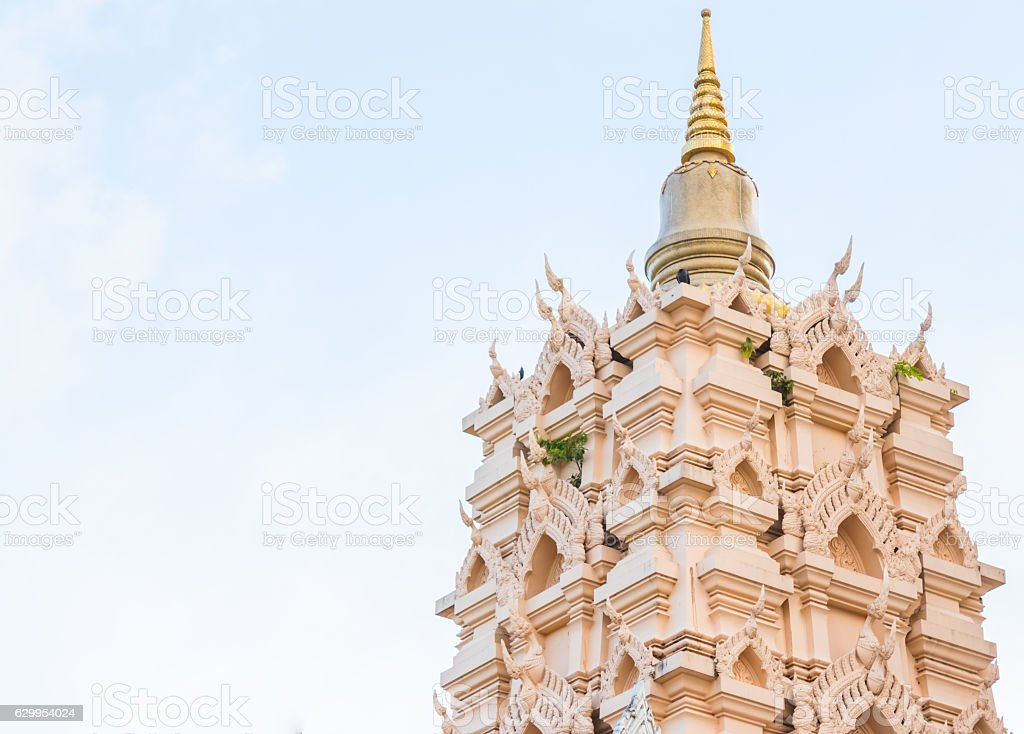 ฺฺLandscape Beautiful Landscape of pagoda Thai architecture stock photo