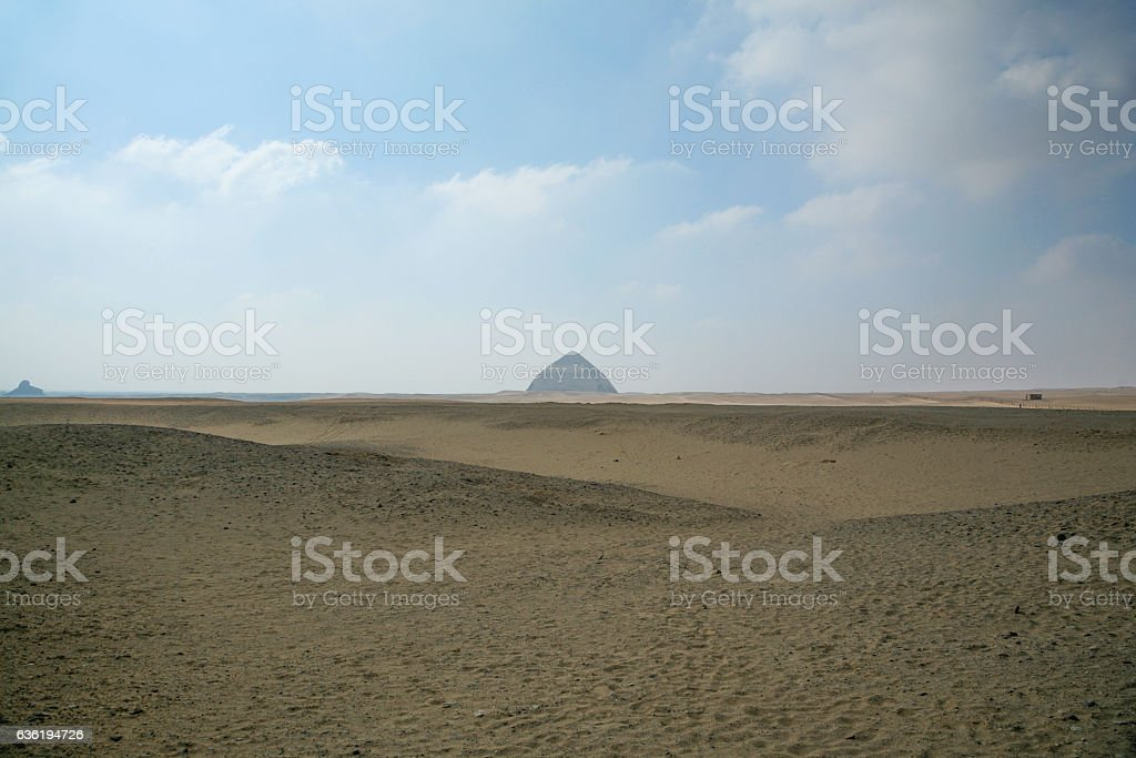 landscape Bent Pyramid Dahshur stock photo