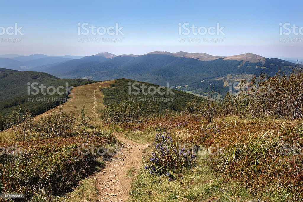 landscape Bieszczady royalty-free stock photo