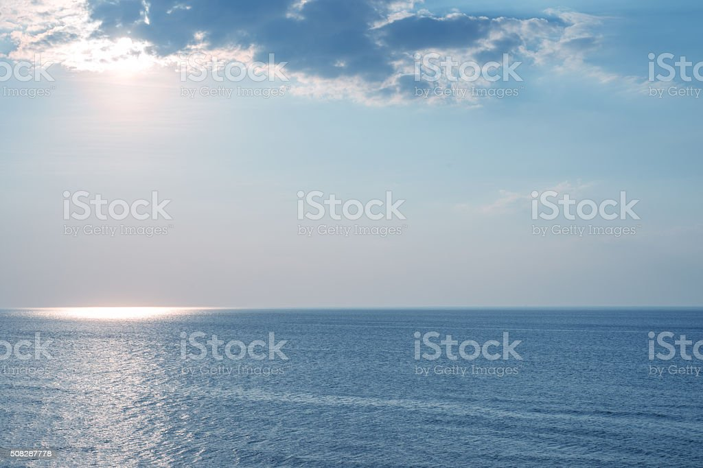 Landscape blue sea stock photo